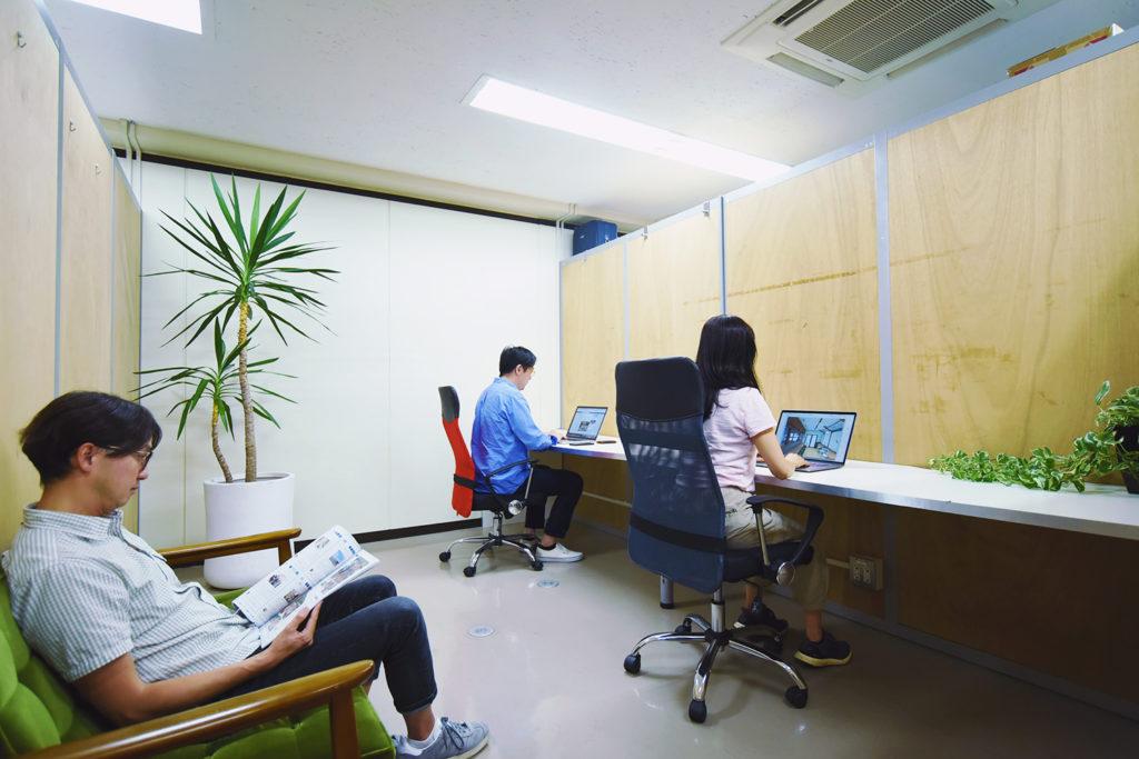 【空室予定】2Fシェアオフィス(3-6名用)の募集中!